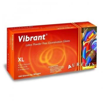 Γάντια Aurelia Latex Vibrant micro-textured Extra Large Χωρίς Πούδρα (Λευκό)