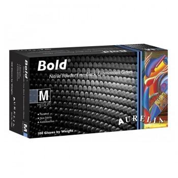 Γάντια Νιτριλίου Medium Aurelia Bold Μαύρα 100 τεμάχια